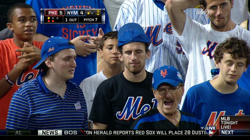 Caption Contest: What Are These Mets Fans Up To?