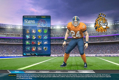 american football browser game