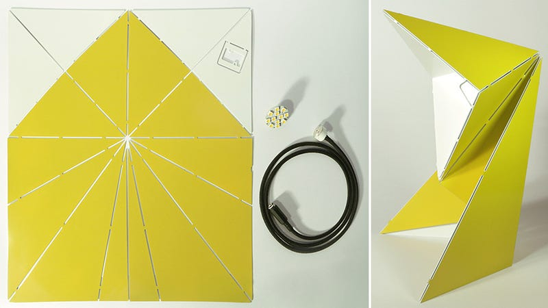 If You Can Fold a Paper Airplane, You Can Assemble This LED Lamp