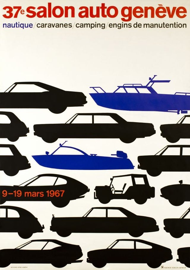 Can You Name All The Cars In The 1967 Geneva Auto Show Poster?