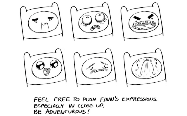 Pendleton Ward's 16-Page Manual on How to Draw Finn and Jake Correctly