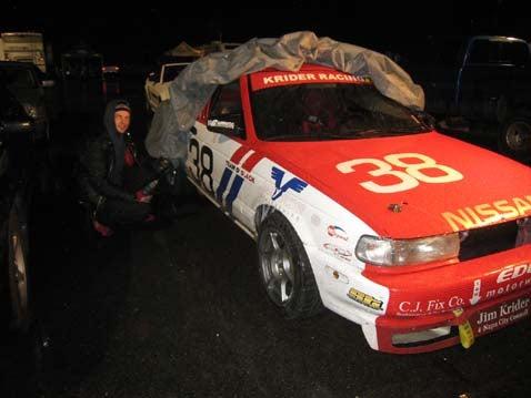 Must... Get... Car... Ready... Race... Tomorrow...