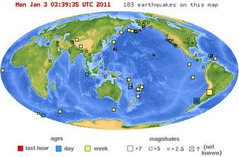 Where to follow earthquakes on Twitter