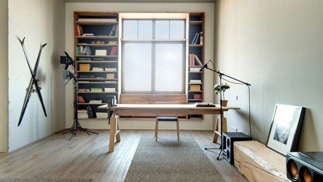 The Minimalist Loft Workspace