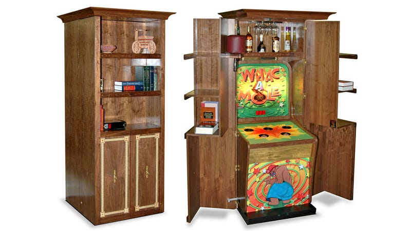 There's a Whac-a-Mole Game Hiding in This Run-of-the-Mill Cabinet