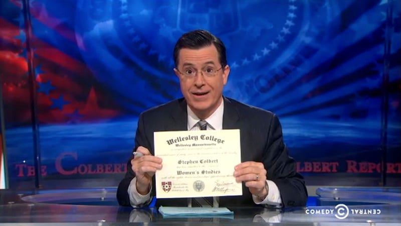 Feminist Stephen Colbert Gave Himself a Master's in Women's Studies
