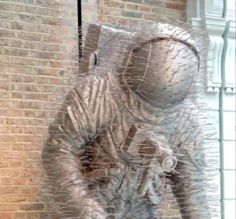 Spaceman Made of Coathangers