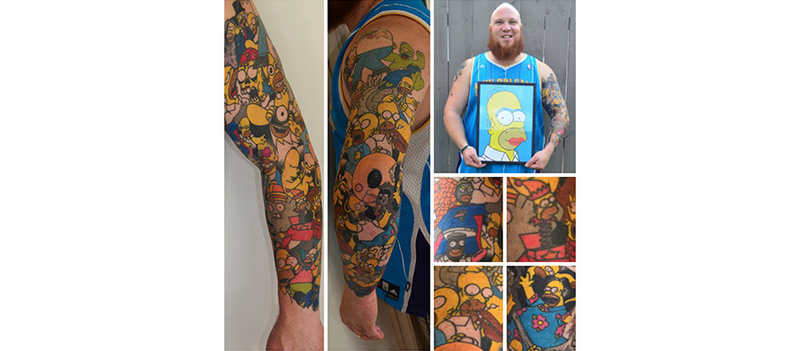 Super Intense Simpsons Fan Sets Cartoon Character Tattoo Record
