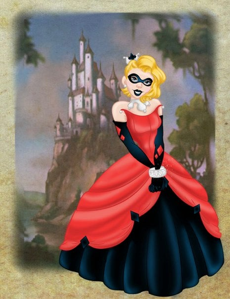 Gotham City's Sirens, reimagined as Disney Princesses