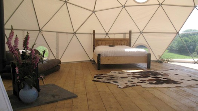 Sleeping in a Geodesic Dome Is the Only Way I Want to Camp