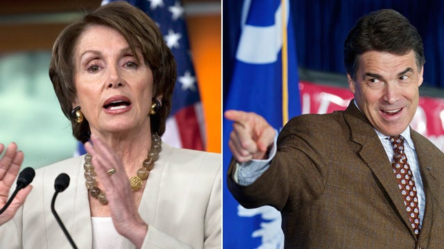 Rick Perry Is Demanding a Debate With... Nancy Pelosi?