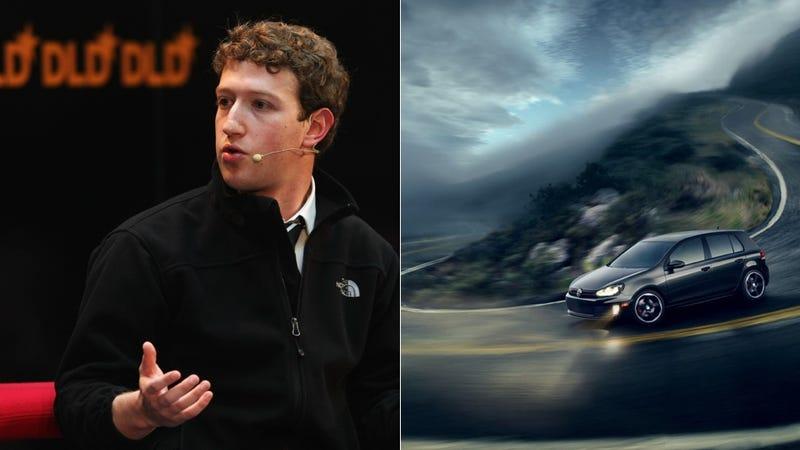Mark Zuckerberg Drives A Volkswagen GTI