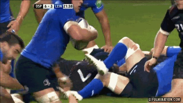 The Most Brutal Stiff-Arm You'll See Today Happened In A Rugby Match