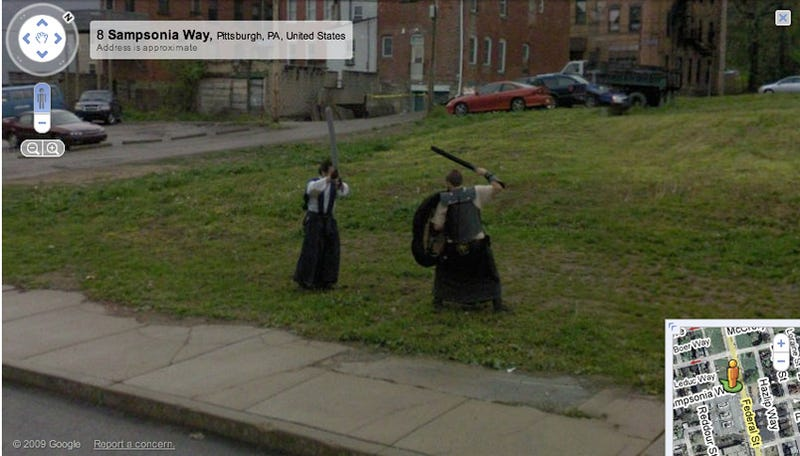 Google Street View Discovers Rift in Spacetime Contiuum