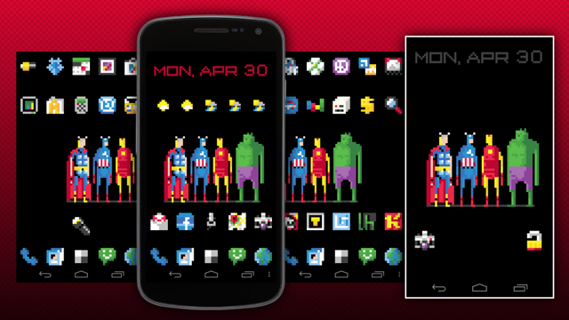 The 8-Bit Avengers Home Screen