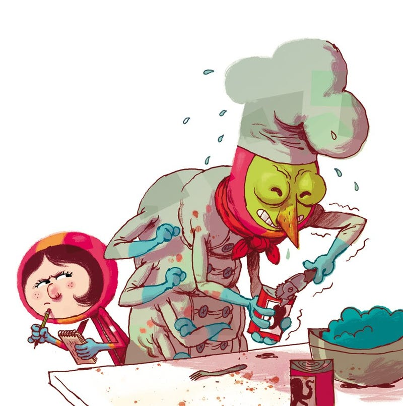 Concept Art Writing Prompt: The Little Girl and the Alien Chef