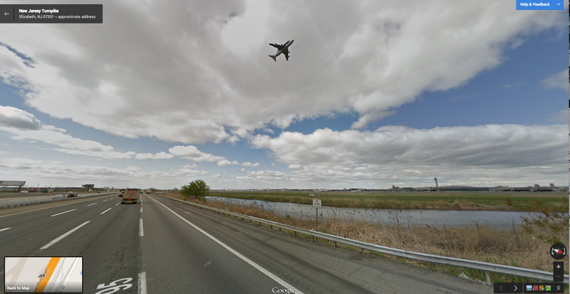 Unbelievable Google Street View Captures a Space Shuttle Flyover