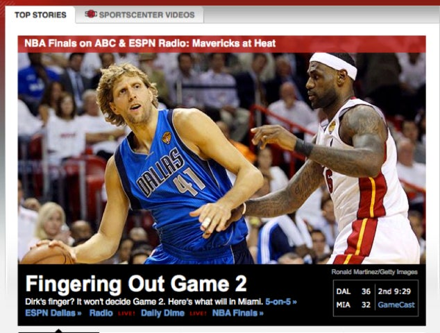 There's No Question That Dirk Nowitzki's Fickle Fingers Are Getting ESPN Hot And Bothered