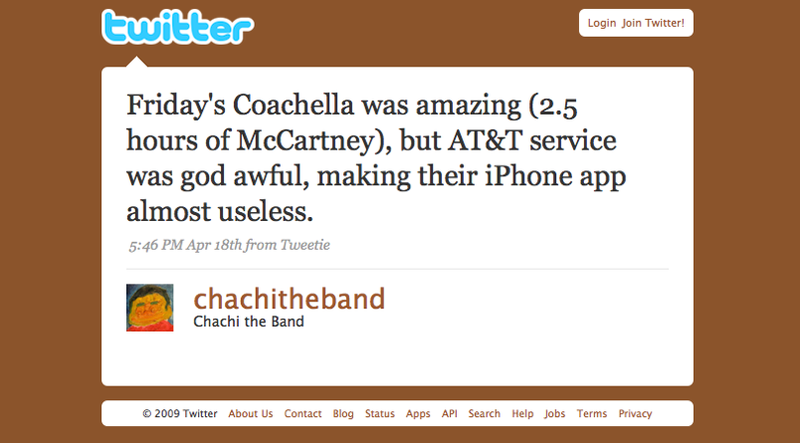 AT&T's Service Fail at Coachella Music Fest Renders Official iPhone App Useless