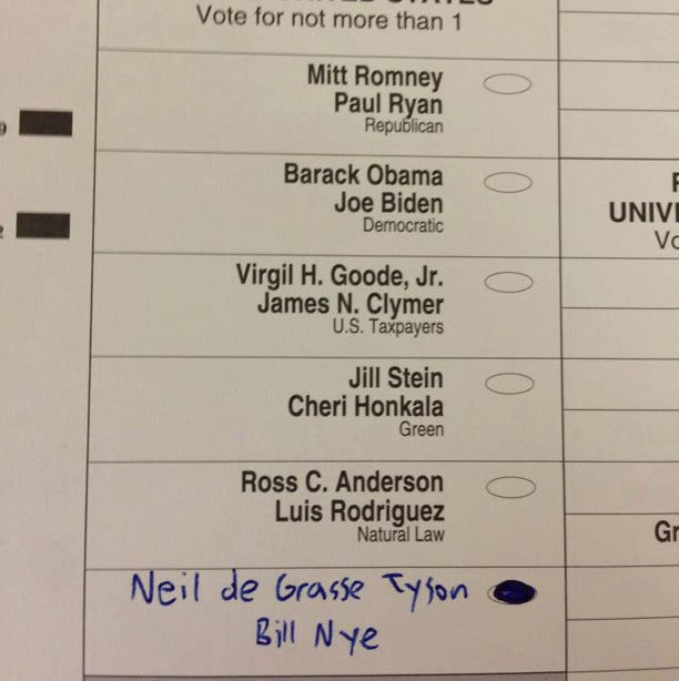 Gangnam Style, Lil B, Bill Nye, Chuck Norris, and 'A Gay Dog' Got Votes: Your Ridiculous Ballot Write-Ins All in One Place