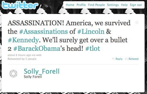 Conservative Blogger Calls For Obama's Assassination On Twitter (Updated)