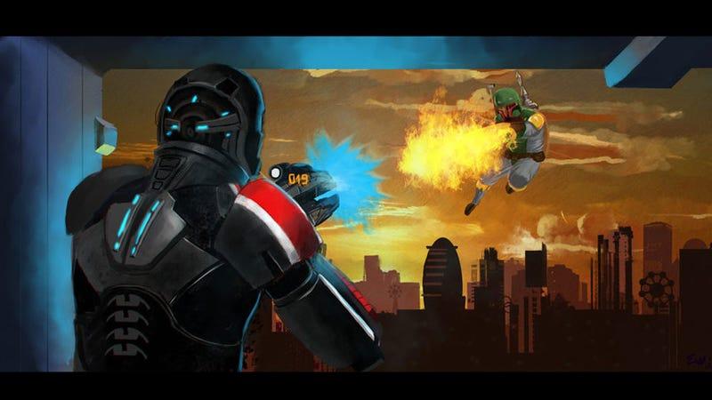 Commander Shepard Can Punch Women, But Can He Beat Boba Fett?