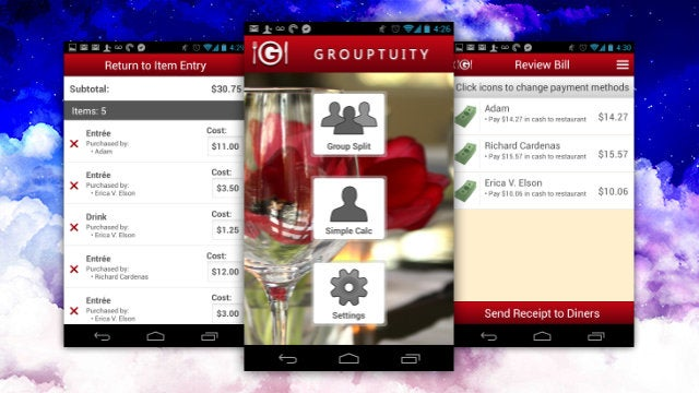 Grouptuity Splits Multi-Person Checks at Restaurants with Ease
