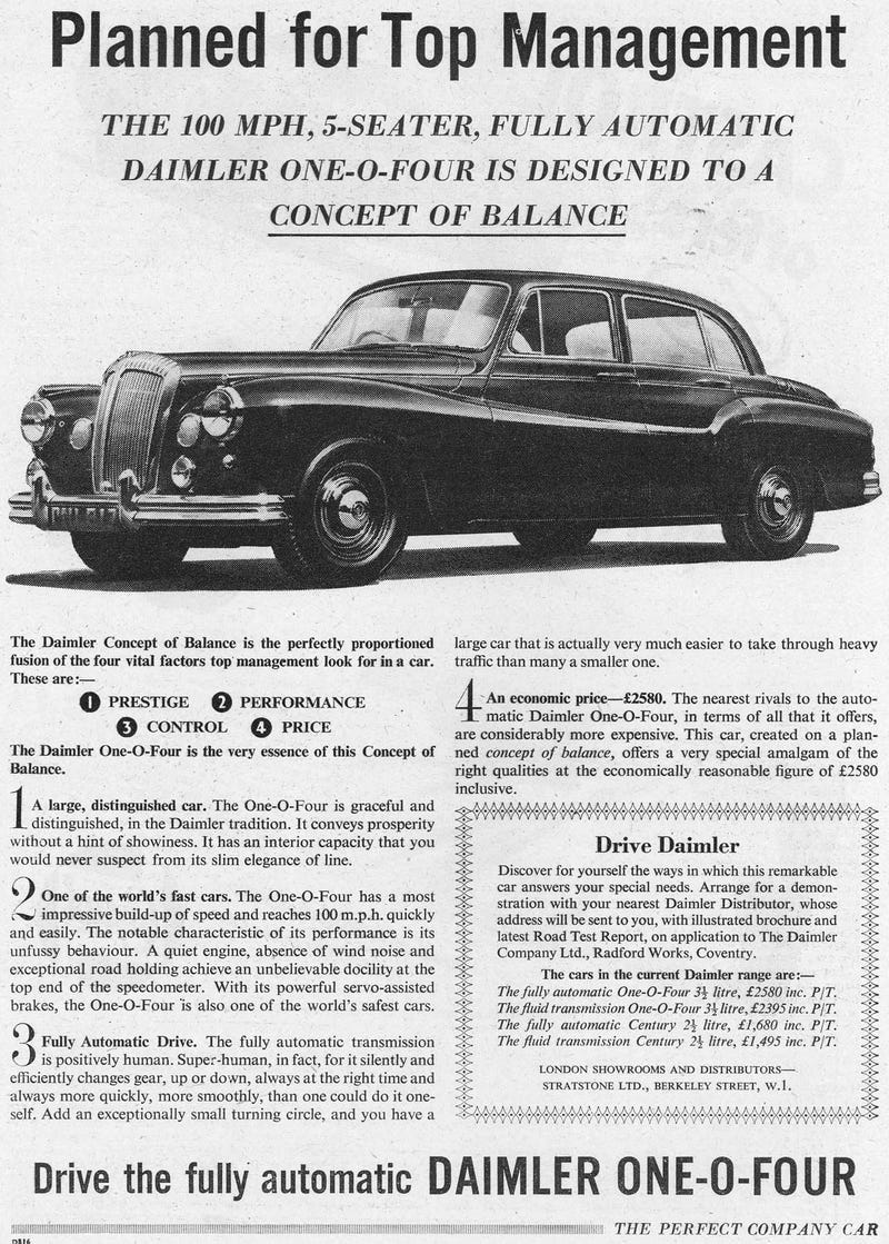 British Postwar Car Ads