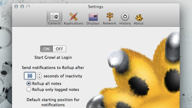Growl for Mac Adds a History Menu for Viewing Past Notifications, Is Now $1.99