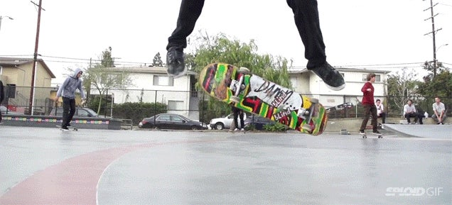 Seeing skateboard tricks in slow motion is like breaking gravity