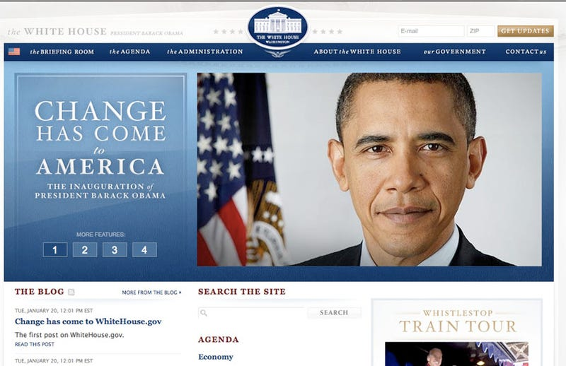 The White House Website: Today Vs. When Bush Took Office