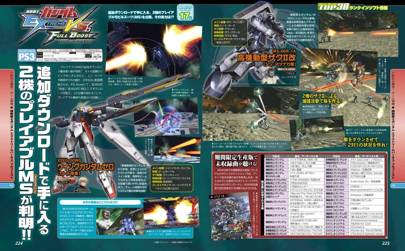 Gundam Extreme VS Full Boost's 1st paid DLC characters