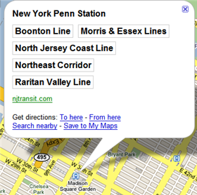 Transit data added to Google Maps
