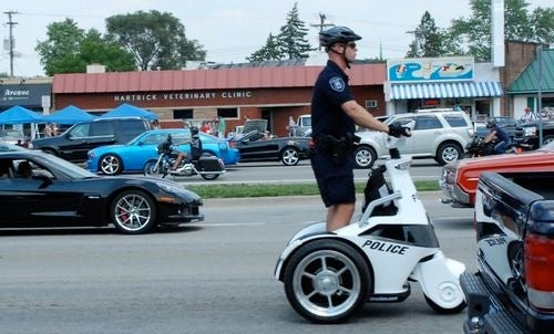 Cops Cruise Woodward Avenue On Nerd Chariots