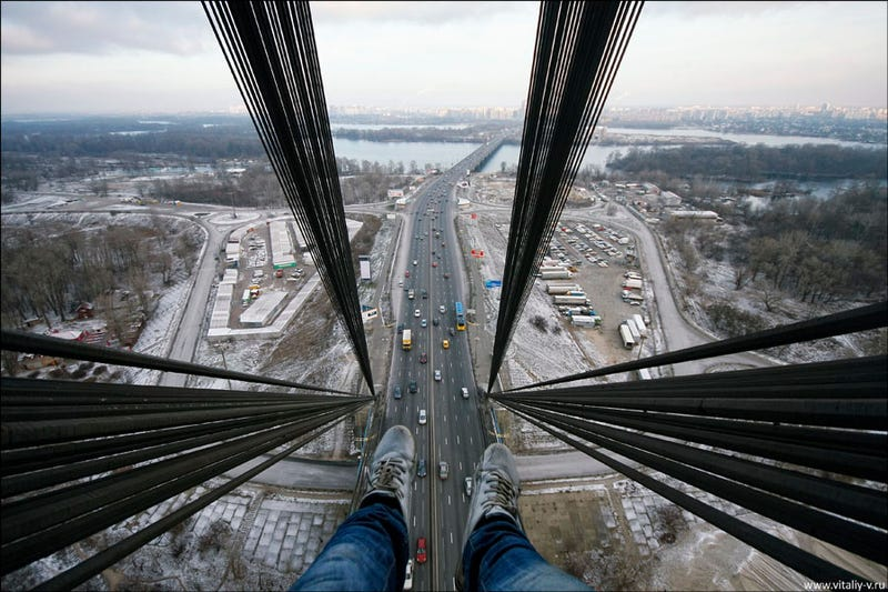 The View From the Top of Kiev's Moscow Bridge Dares You Not To Get Vertigo