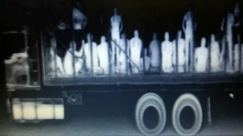 Truck Filled With 94 Migrants En Route To U.S. Caught On X-Ray