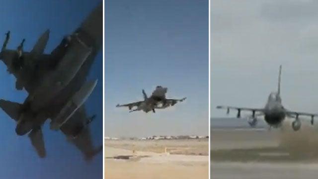 U.S. pilots do crazy flybys too