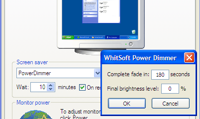 Dim your PC's screen with Power Dimmer