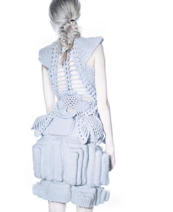 3D Knit Dresses Let You Go Mecha Chic
