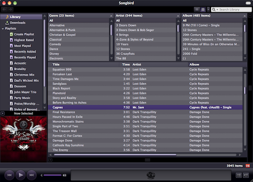Songbird 1.4.2 Released, Brings New Look, CD Ripping, and Device Support