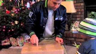 This Guy Is Overwhelmed After Receiving Present From The Seahawks