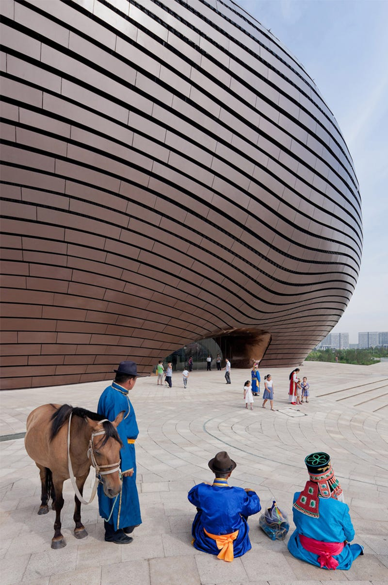 China built a ridiculously science fictional museum in a city where nobody lives