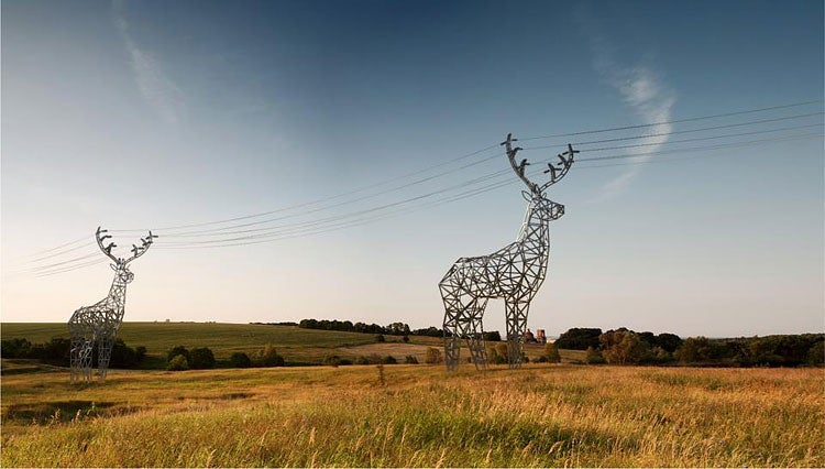 I Wish These Deer Power Line Towers Were Real