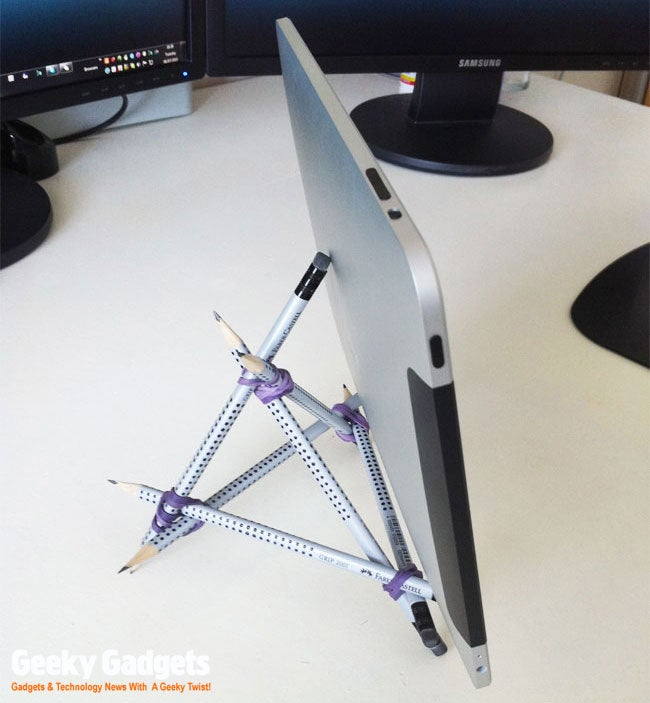 Who Can Build the Best Office Supply iPad Stand?