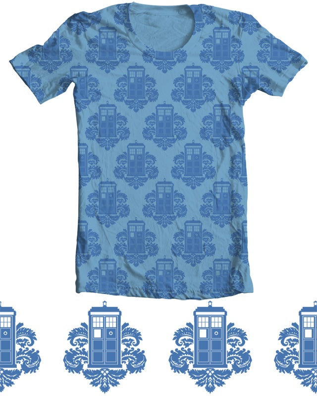 Is this TARDIS Damask shirt the classiest Doctor Who tee money can buy?