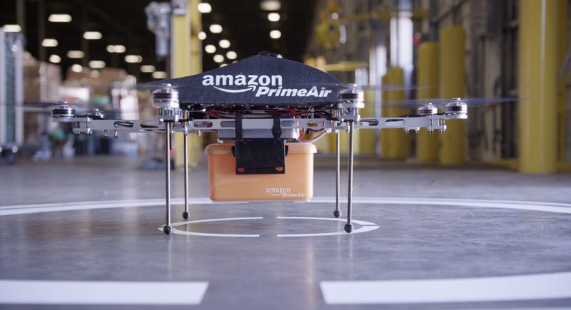 Here's Our Closest Look At Amazon's Drone Delivery Service