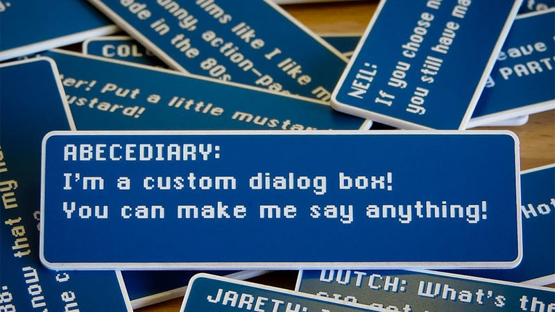 Turn Your Fridge Into an RPG With Custom Dialogue Box Magnets
