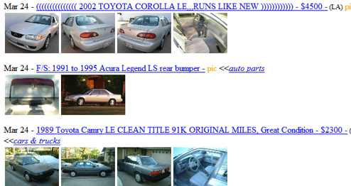 Include Images in Craigslist Search Results