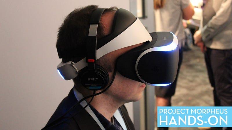 We Tried Sony's PS4 Virtual Reality Headset. We Like It.