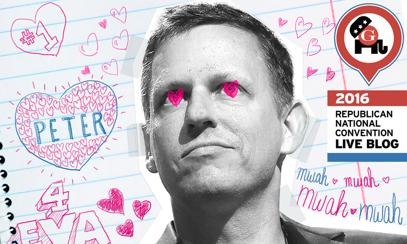 Liveblogging the Smart and Handsome Peter Thiel (and Maybe Trump)